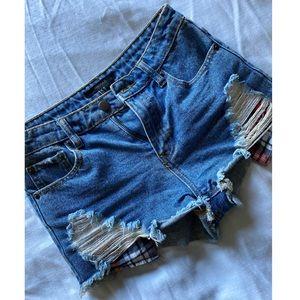 Forever 21• Denim Destroyed Shorts